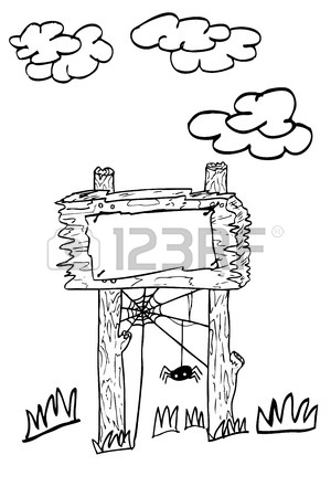 300x450 Hand Draw Sketch Of Sign Board Stock Photo, Picture And Royalty