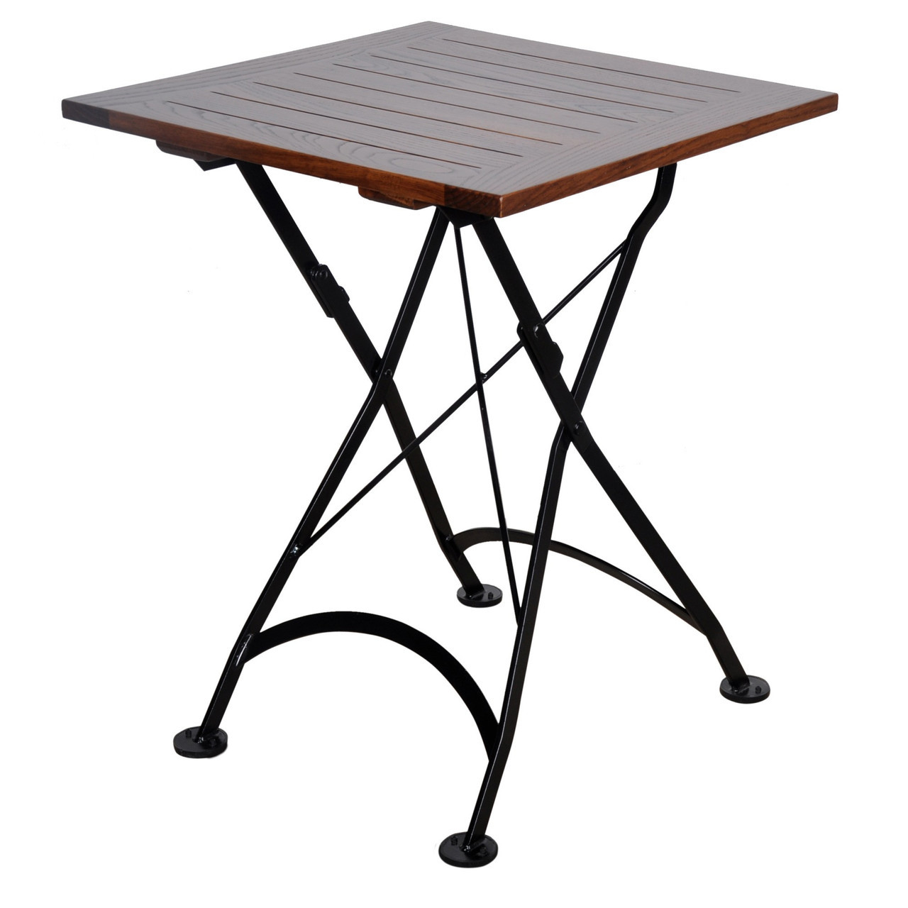 1280x1280 24 Inch Square European Folding Chestnut Wood Table
