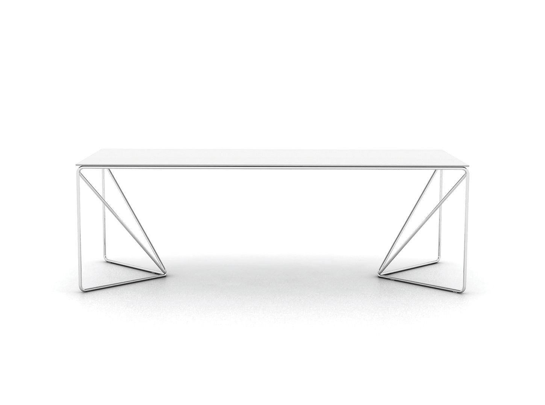1450x1080 Contemporary Table Metal Wood Veneer Rectangular