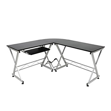 355x355 Modern L Shaped Desk, Corner Computer Desk, Pc Latop