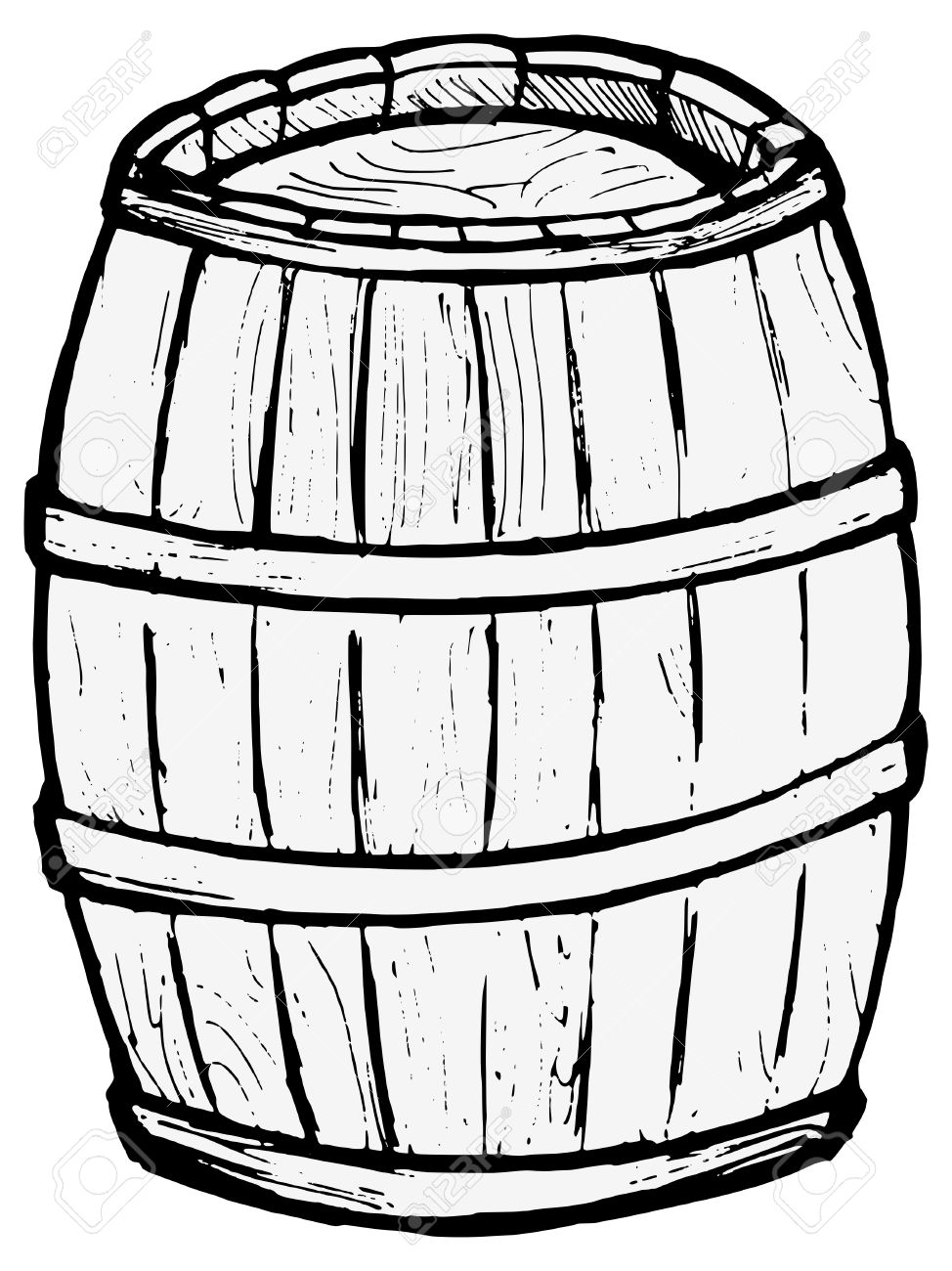 974x1300 Old Wooden Barrel On The White Background Royalty Free Cliparts