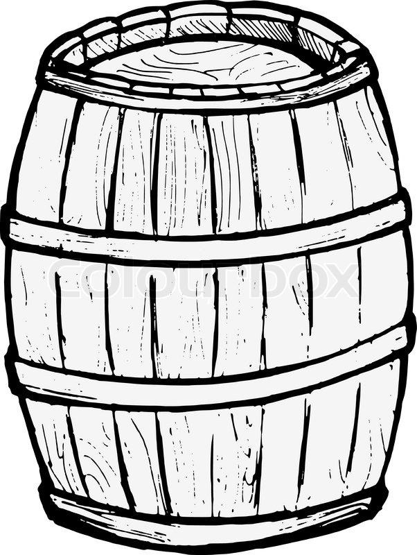 602x800 Old Barrel Stock Vector Colourbox