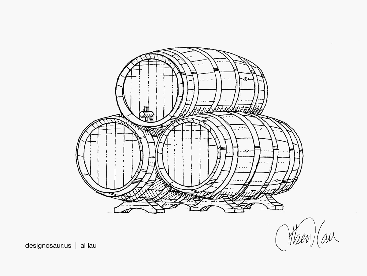 1200x902 Drawing Wine Barrels Blog.designosaur.us