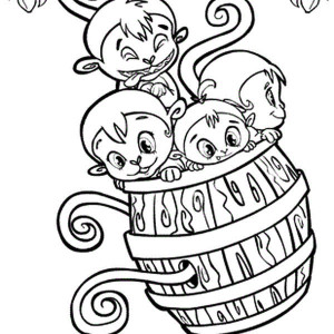 300x300 Monkey Running On Barrel Coloring Page Monkey Running On