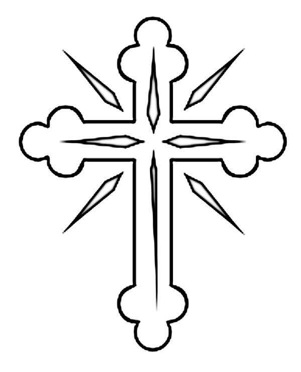Wooden Cross Drawing