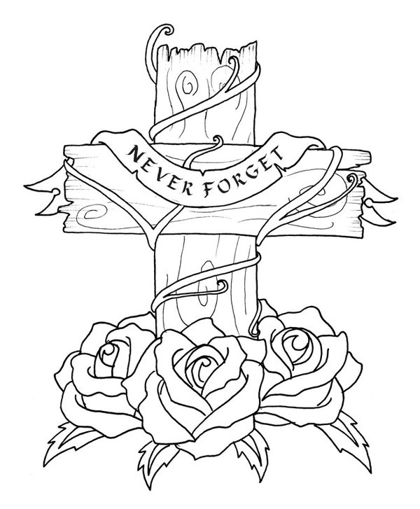 600x727 Cross Tattoo Design Redrawn By Ravencry