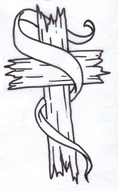 236x382 Woodgrain Cross Jewelry I'D Like Designed Tattoo