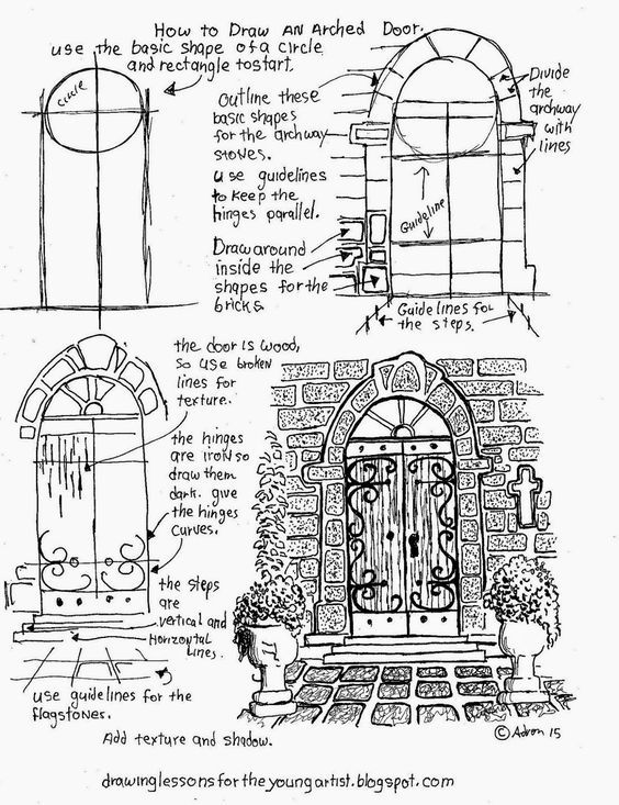 Wooden Door Drawing