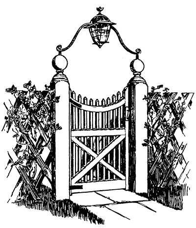 400x465 How To Make A Victorian Wooden Gate
