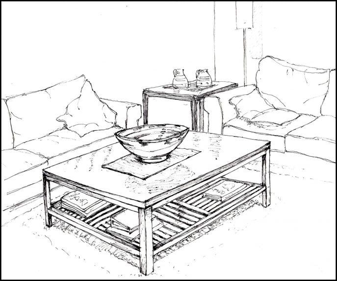 687x574 Living Room Drawing