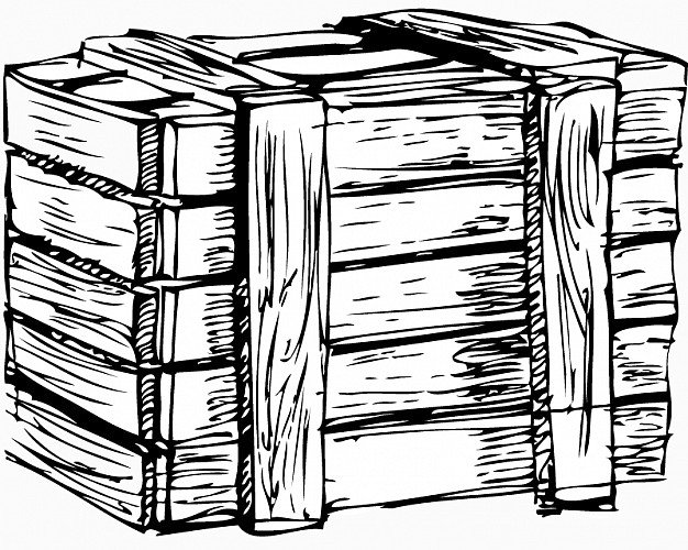 626x500 Wood Box Detail Drawing (Good Wooden Box Drawing