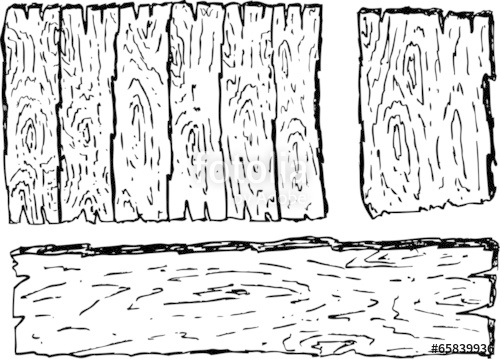 500x359 Hand Draw Sketch Of Wooden Board Stock Photo And Royalty Free