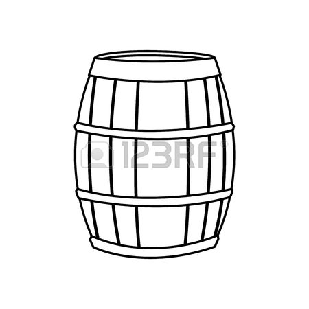 450x450 Bucket Wooden Water Image Sketch Vector Illustration Eps 10