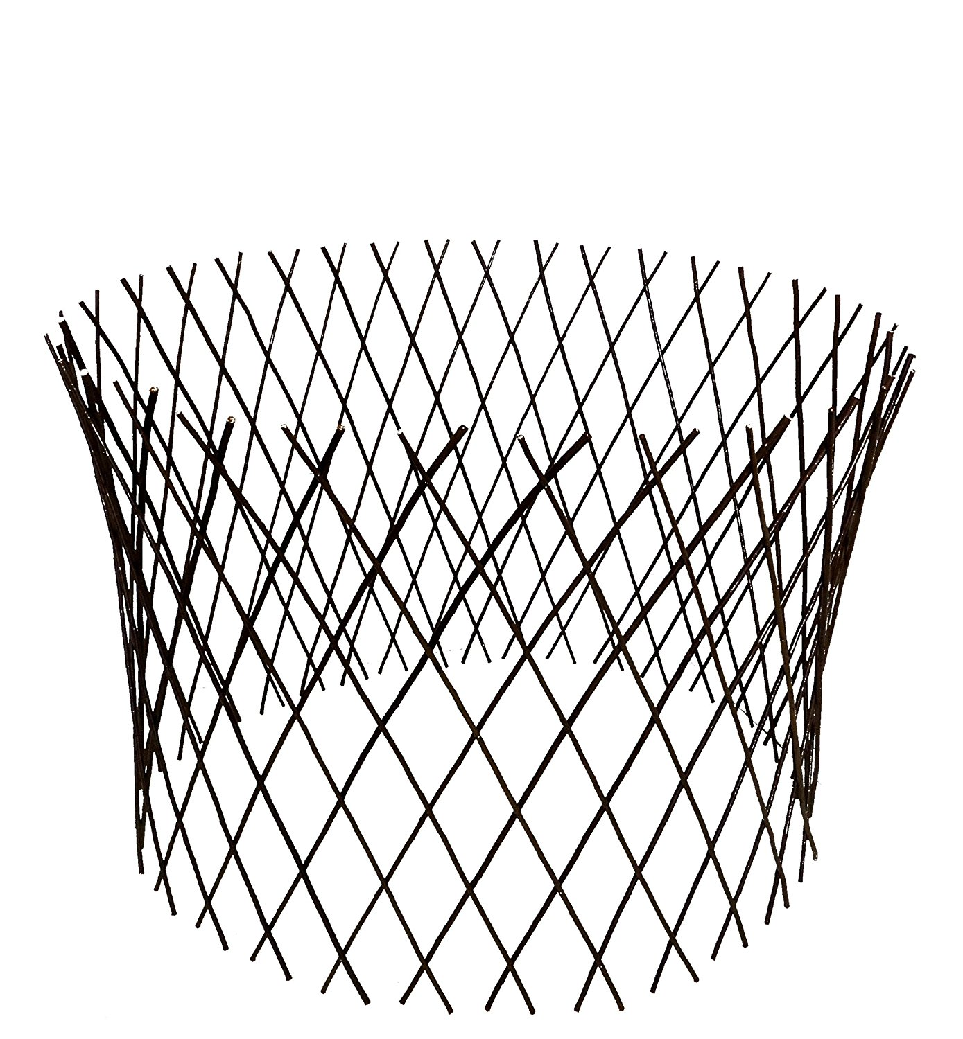 1389x1500 Master Garden Products Circular Willow Lattice Fence, 30 By 60