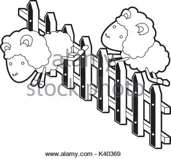 343x320 Sheep Animal Couple Jumping A Wooden Fence In Colorful Silhouette