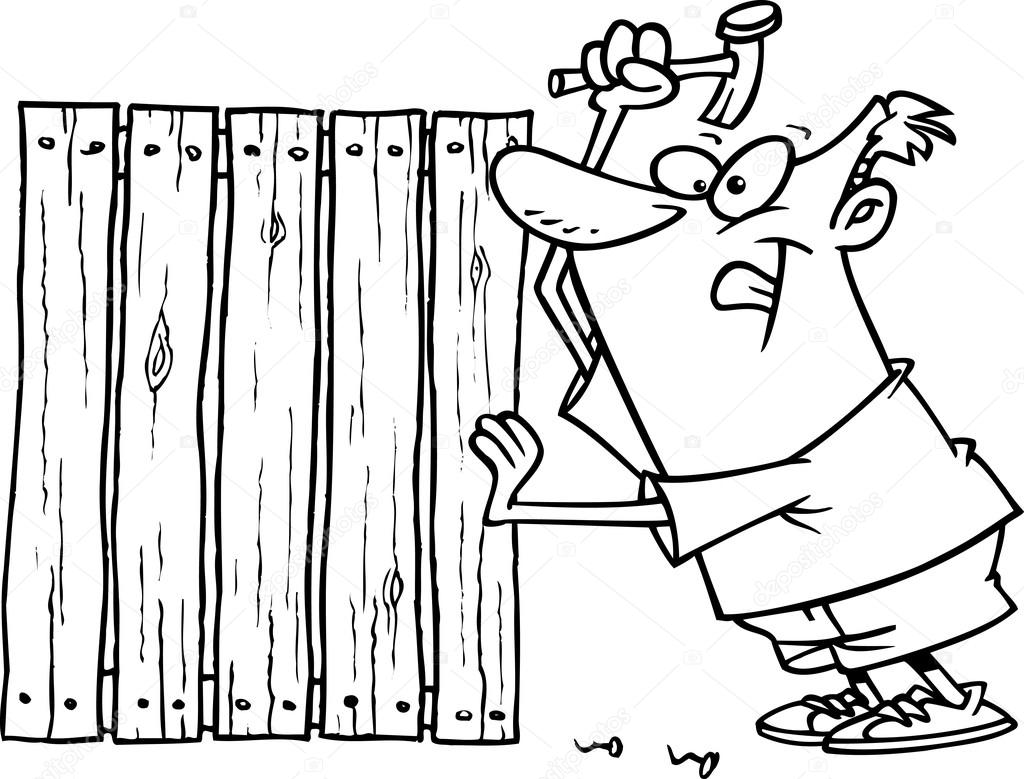 wooden fence drawing at getdrawings com