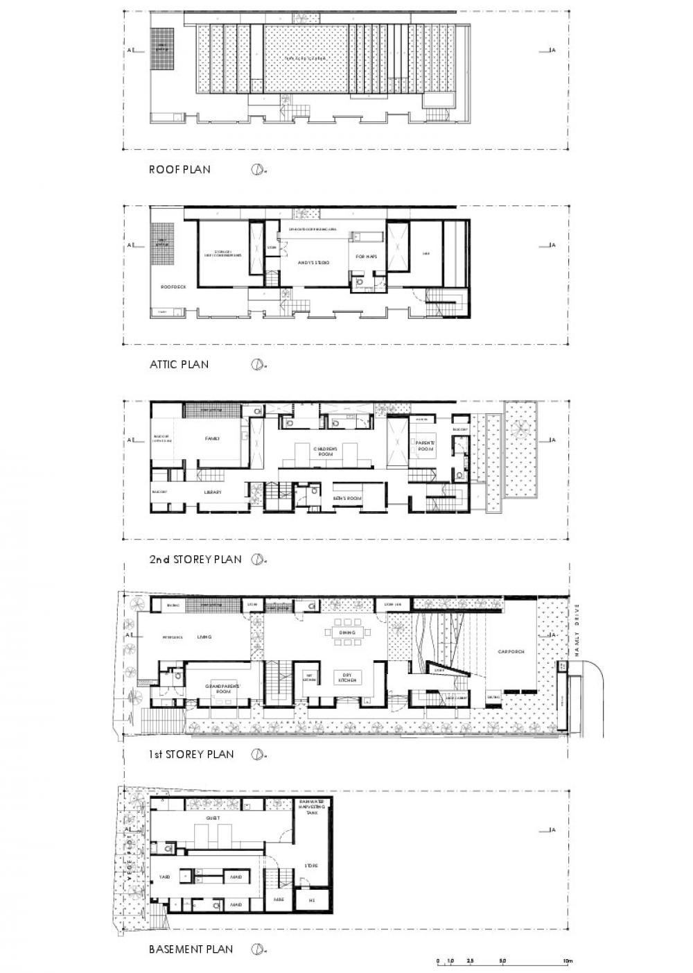 1000x1403 Concrete House Wooden Floor Plan Panoramic Contemporary House