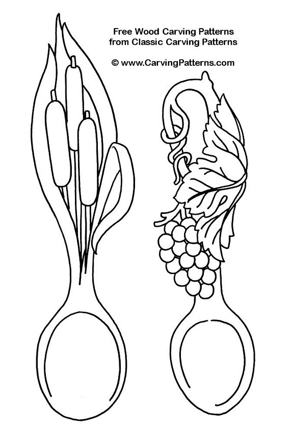 569x850 Cat Tail Spoon, Grape Spoon