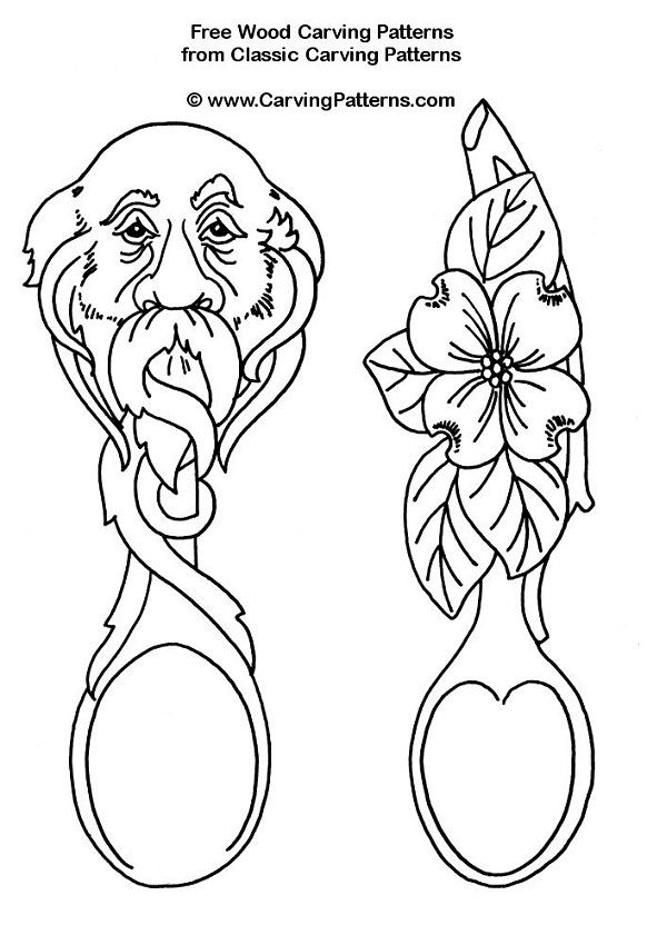 582x850 Face And Flower Spoons