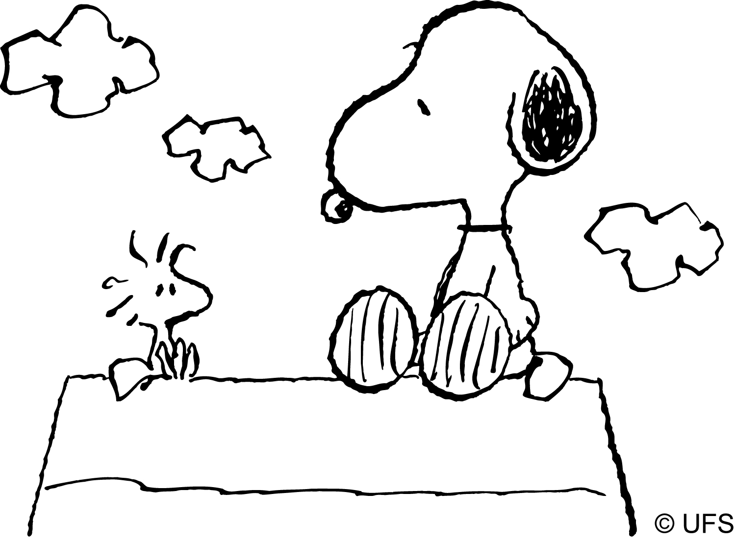 woodstock snoopy coloring pages | Woodstock Drawing at GetDrawings.com | Free for personal ...