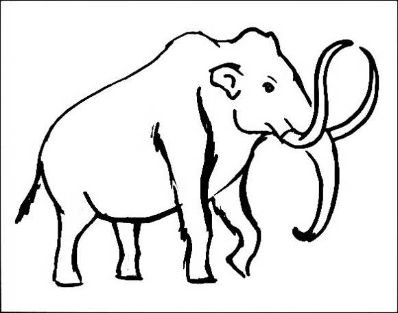 580x456 How To Draw A Mammoth Step By Step