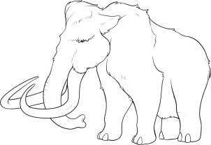 302x208 How To Draw How To Draw A Mammoth