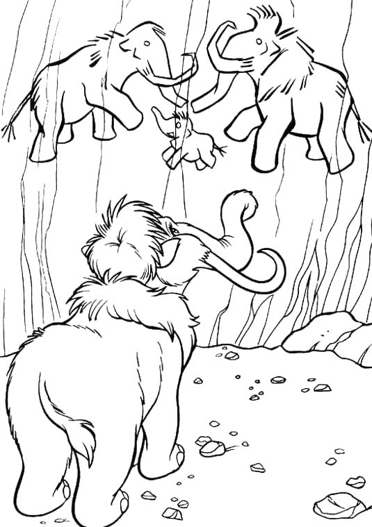 535x759 Manny See Drawing Mammoth Coloring For Kids Colorbook