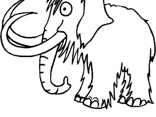 320x240 Awesome Wooly Mammoth Coloring Page 65 In Coloring Pages