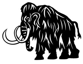 320x246 Woolly Mammoth Decal Sticker