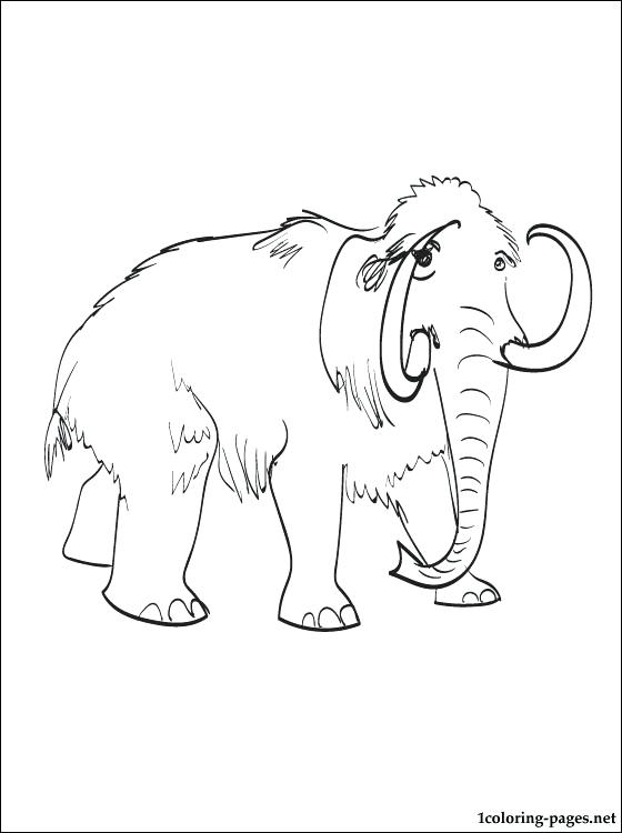 560x750 Wooly Mammoth Coloring Page Mammoth Coloring Page Woolly Mammoth