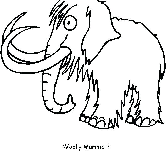 659x600 Wooly Mammoth Coloring Page