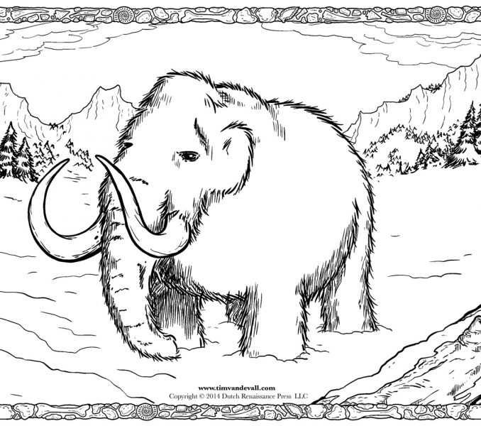 678x600 To Print Wooly Mammoth Coloring Page 90 On Coloring Online