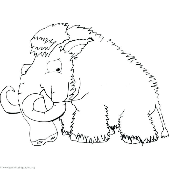 700x700 Wooly Mammoth Coloring Page Mammoth Coloring Page Cartoon Mammoth
