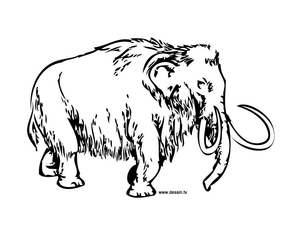 1024x768 Coloring Mammoth