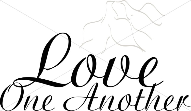 776x453 Love One Another With Doves Religious Love Word Art