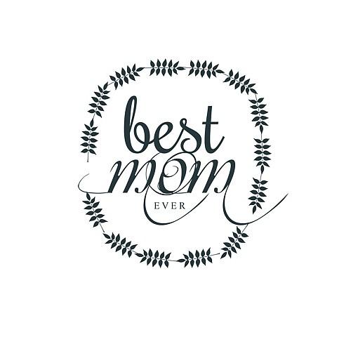 510x480 Best Mom Word Art