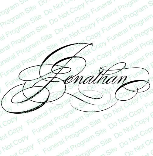 504x516 Elegant Names Jonathan Name Word Art