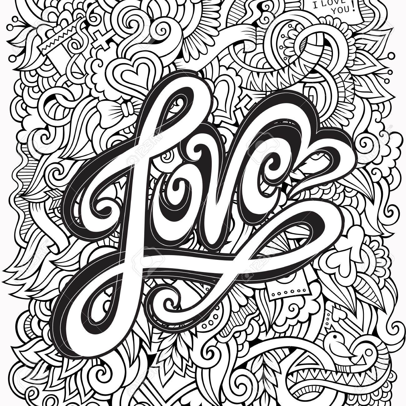1300x1300 Love Word Sketch Stock Photos. Royalty Free Love Word Sketch