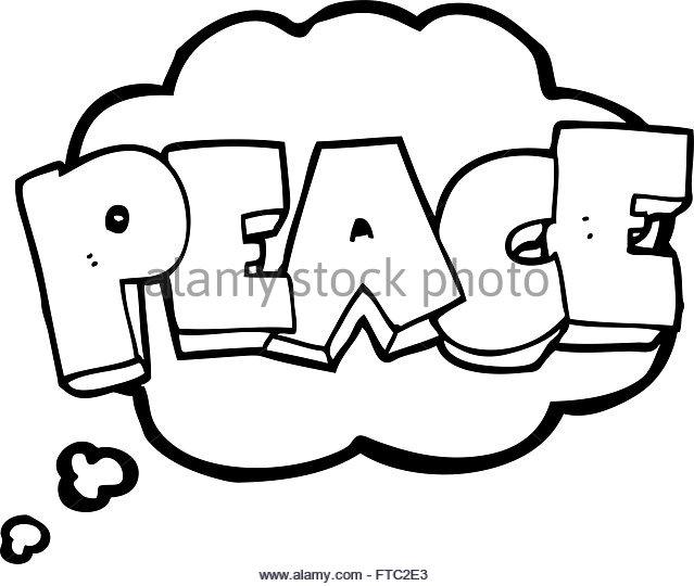 639x540 Freehand Drawn Cartoon Word Peace Stock Photos Amp Freehand Drawn