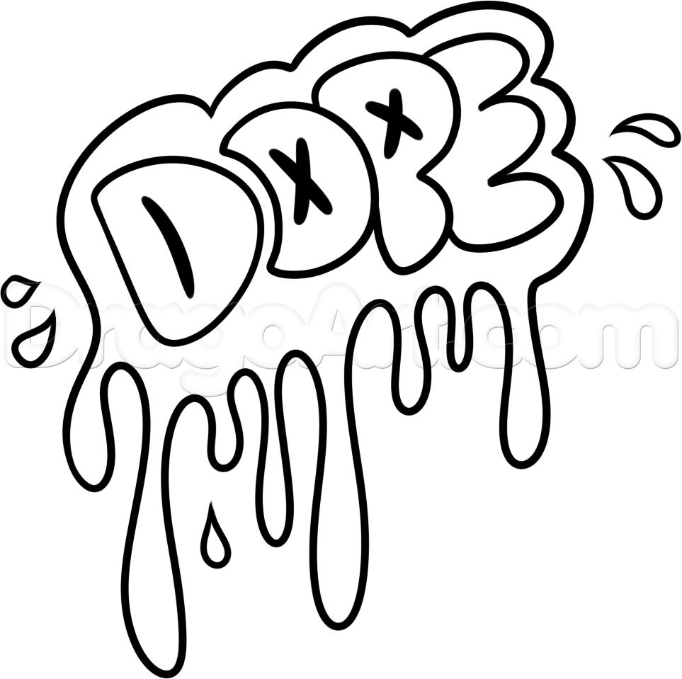 963x959 Graffiti Drawing Words