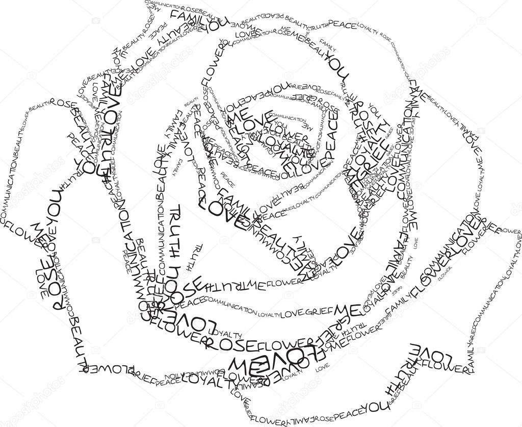 1024x837 Rose Of The Words Stock Vector Trofimich81