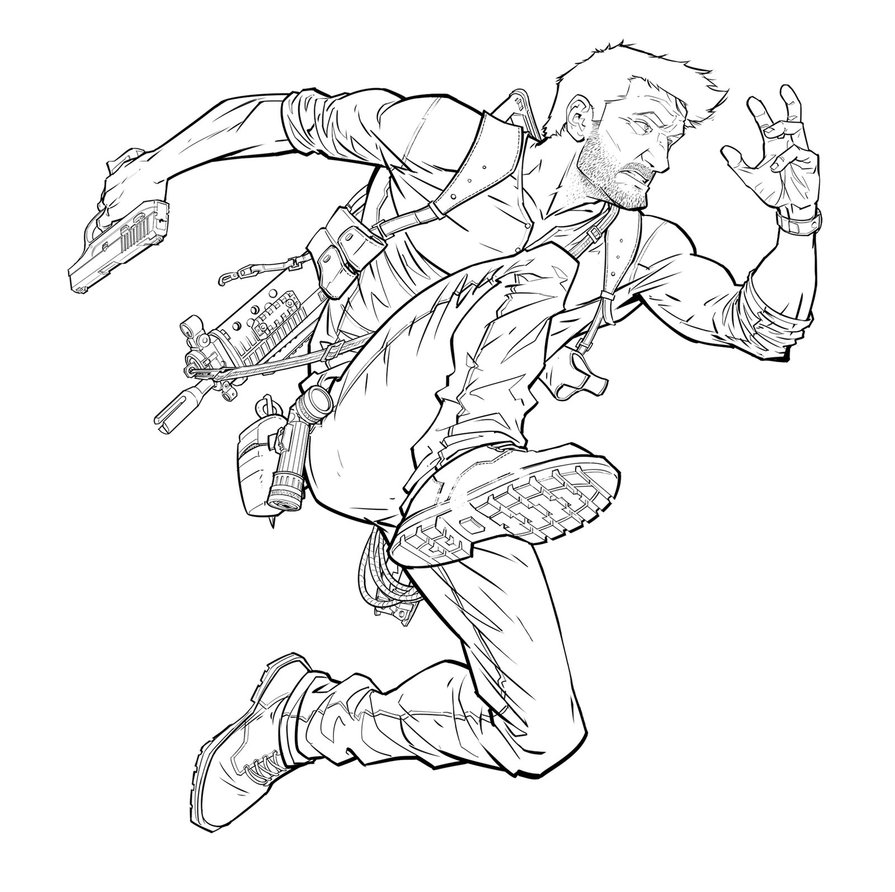 895x892 Nathan Drake Line Work By Patrickbrown