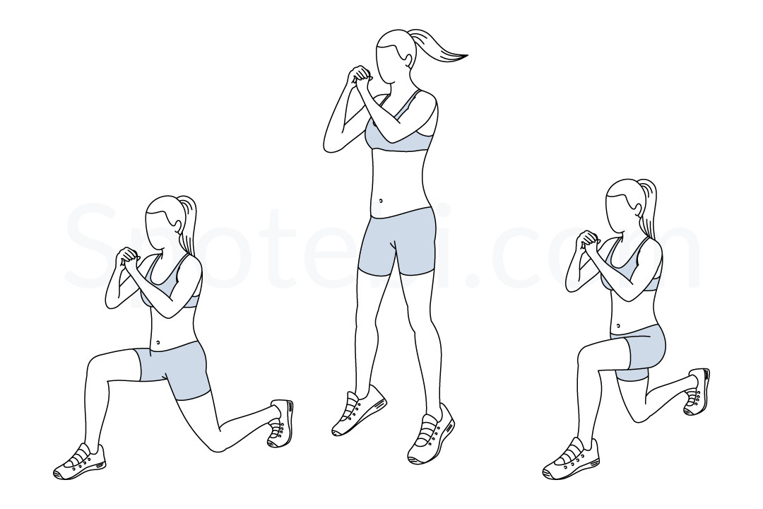 1080x720 Jumping Lunges Illustrated Exercise Guide