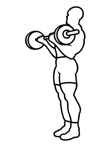 360x480 Weight Training Workout Coloring Page Free Printable Coloring Pages