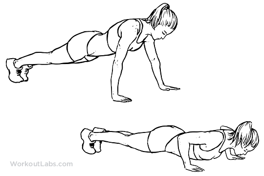 540x360 Wide Push Up Illustrated Exercise Guide