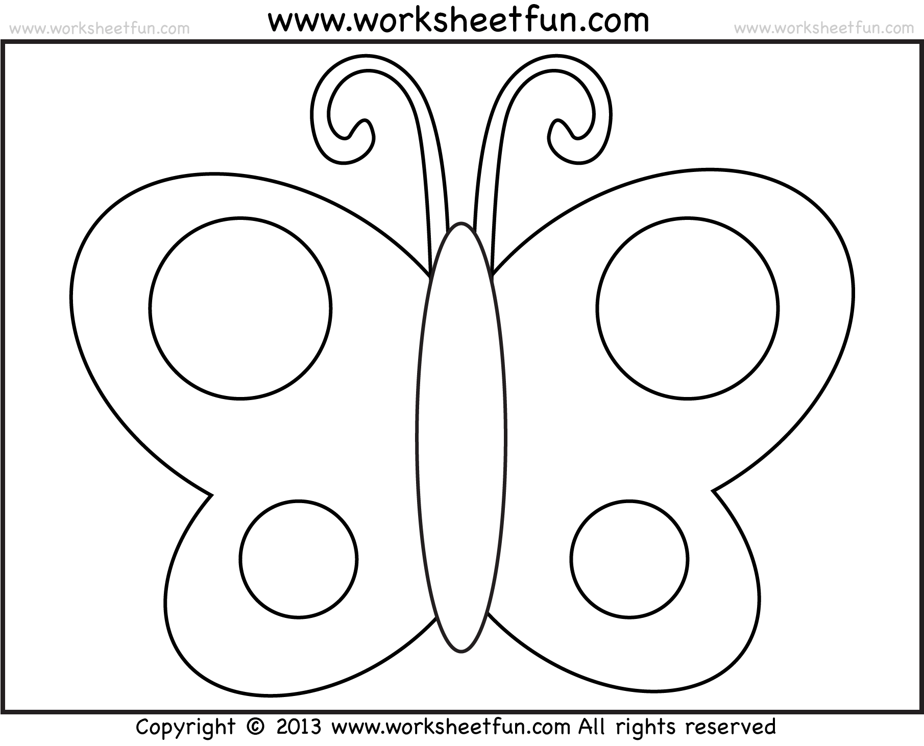 Worksheet Drawing At Getdrawingscom  Free For Personal Use  X Butterfly Tracing And Coloring  Preschool Worksheets Free