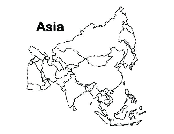 600x464 Asia Map Coloring Page Continent In World Map Coloring Page Map