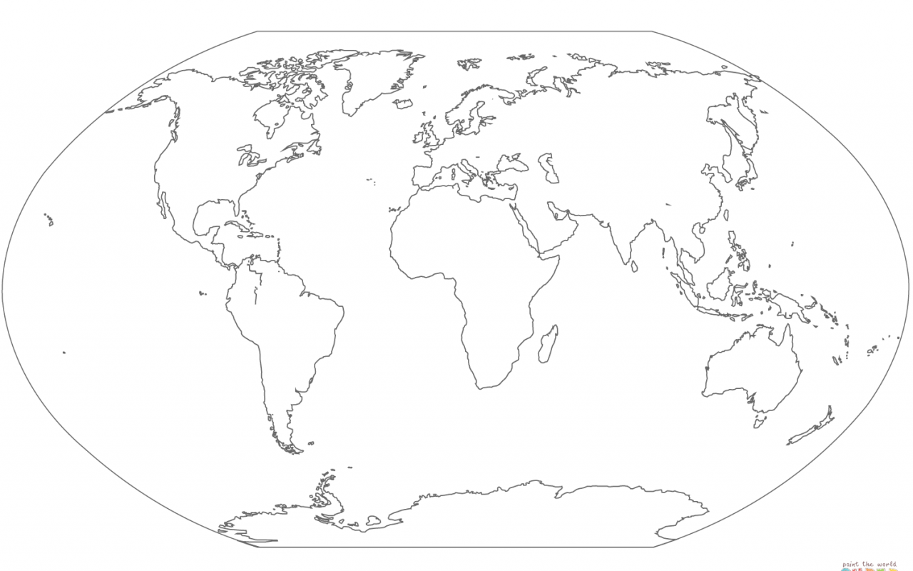 1280x800 Coloring Pages World Map Many Interesting Free Printable Adult