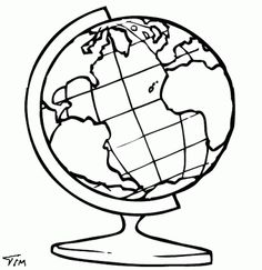 World Globe Drawing
