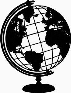 231x300 Drawn Globe Svg